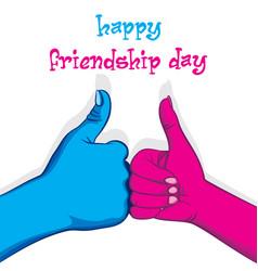 Happy friendship day poster design vector
