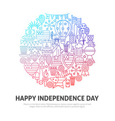 happy independence circle concept vector image