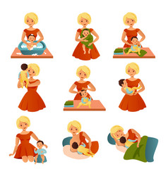 Happy motherhood collection vector