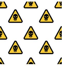 hazard danger skull signs on white background vector image