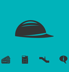 Helmet icon flat vector