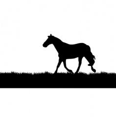 horse meadow vector image vector image