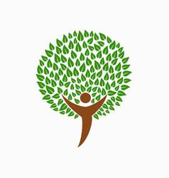 Human tree concept for social help vector