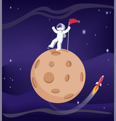Mercury and astronaut poster vector
