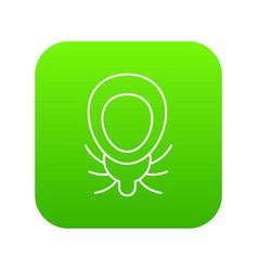 Mouse virus icon green vector