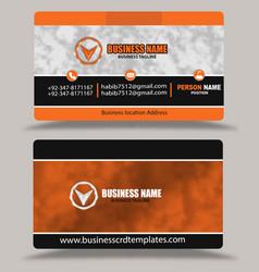 Orange business card template psd vector