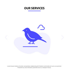 Our services bird british small sparrow solid vector
