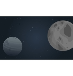 Outer space planet of landscape vector image