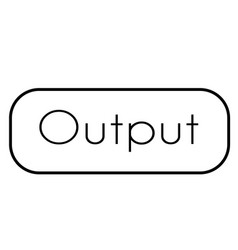Output stamp on white background vector