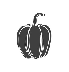 Pepper glyph icon vector