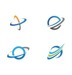 Planet globe icon design vector