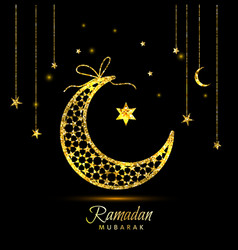 ramadan kareem celebration greeting card decorated vector image