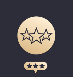 ranking rating icon vector image