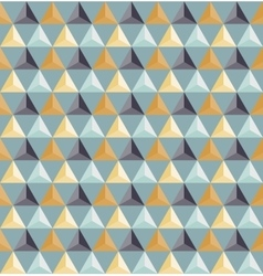 Seamless Geometric Triangle Grid Pattern vector image