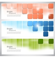 Set of banners with bright squares vector image