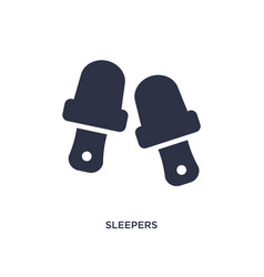 Sleepers icon on white background simple element vector