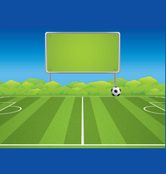 Soccer field in outdoor vector