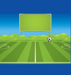 soccer field in outdoor vector image