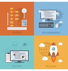 software lifecycle vector image