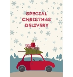 Spesial christmas delivery vector image