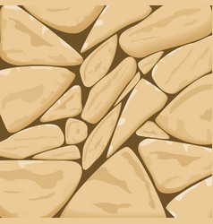 Stone textured background in biscotti brown tone vector