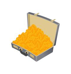 suitcase bitcoin full treasures are crypto vector image