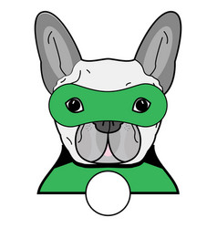 Superhero symbol as a french bulldog character vector