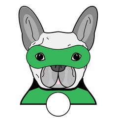 superhero symbol as a french bulldog character vector image