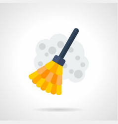 Sweeping flat color icon vector
