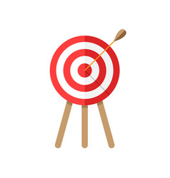 target aim icon in flat style darts game on white vector image