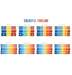 templates for timeline infographic colorful vector image