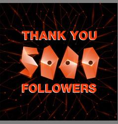 Thank you 10000 followers thanks banner follower vector