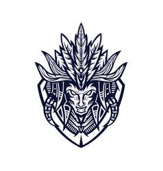 Tribe tribal mascot logo vector