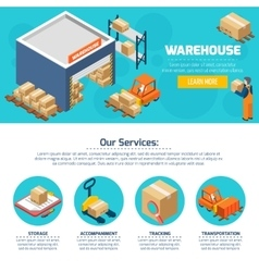 Warehouse Web Site vector