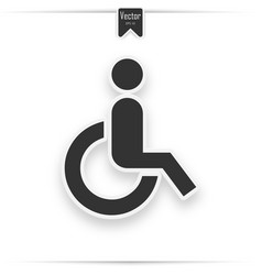 wheelchair icon flat design style vector image