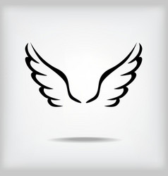 wing black vector image