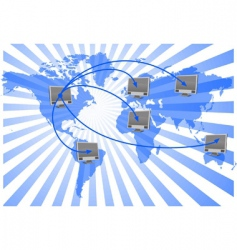 world net vector image
