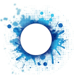 Abstract Blue Background With Blob And Bubble vector image vector image