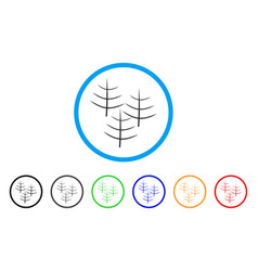 dead forest rounded icon vector image vector image