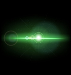 Abstract background with green lens flare vector image