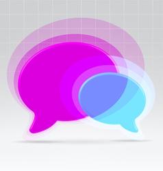 Balloons communication concept vector