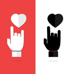 I Love You language hand sign icon vector image