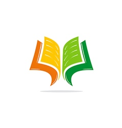 Open book learn education logo vector