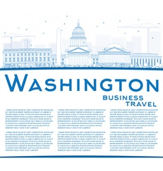 Outline Washington DC Skyline vector image vector image