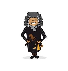 Profession judge man cartoon figure vector image