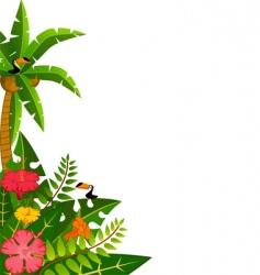 tropical border vector image