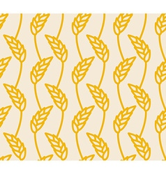 Wheat ears seamless pattern Golden Rye background vector image