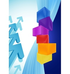Abstract business background with colorful cubes vector image vector image