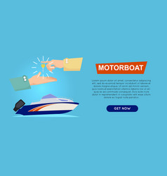 buying motorboat online boat selling web banner vector image