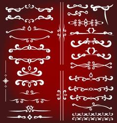 Calligraphic design elements for decoration vector image